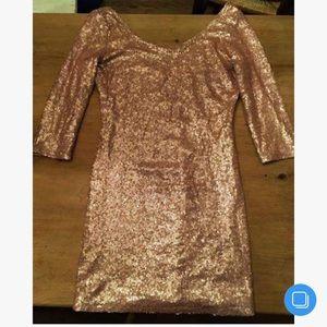 Dresses & Skirts - Champagne Sequin Dress